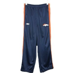 Reebok NFL Denver Broncos Pants Track Zip Up Leg S